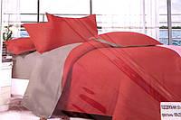Сатинове двоспальне постільна білизна Koloco цегляний забарвлення