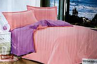 Сатиновое постельное белье Евро размера Koloco светло-розовый цвет