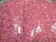 Декоративный цветной гравий розовая (щебень, крошка) ландшафтного дизайна