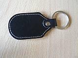 Брелок d на ключи Opel продолговатый Опель коже заменитель, фото 3