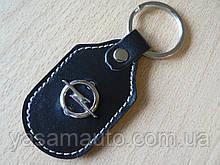 Брелок d на ключи Opel продолговатый Опель коже заменитель