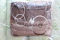 """Жатка постельное белье Евро размера """"Тирасполь"""" коричнево-оранжевое"""