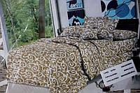Двоспальне постільна білизна мікрофібра - Дощик