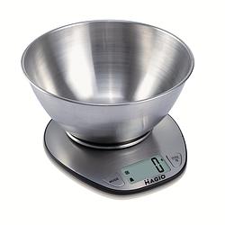 Електронні нержавіючі кухонні ваги з чашею MAGIO MG-691 5кг