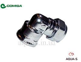 """Уголок цанговый хром Comisa D 15x1/2"""" (для труб из меди и стали) Италия"""
