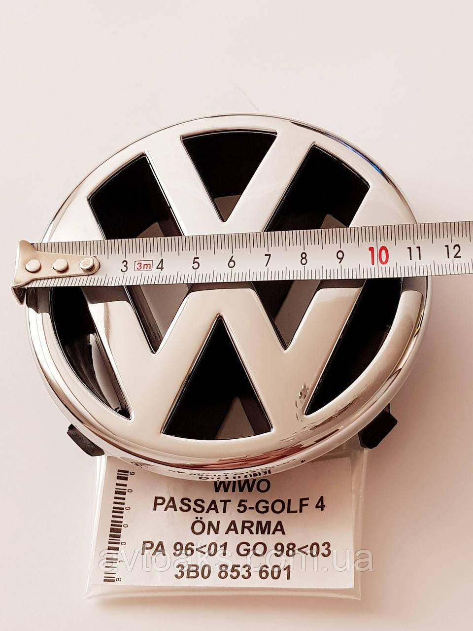 Эмблема Volkswagen Passat, Golf, диаметр 115 мм.