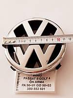 Эмблема Volkswagen Passat, Golf, диаметр 115 мм., фото 1