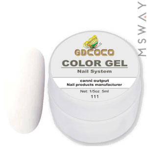 GDCOCO Гель краска 5ml Тон 111 белая эмаль, фото 2