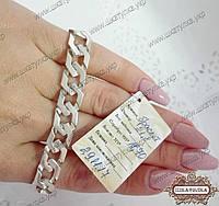 Срібний браслет Панцир 6-кутний