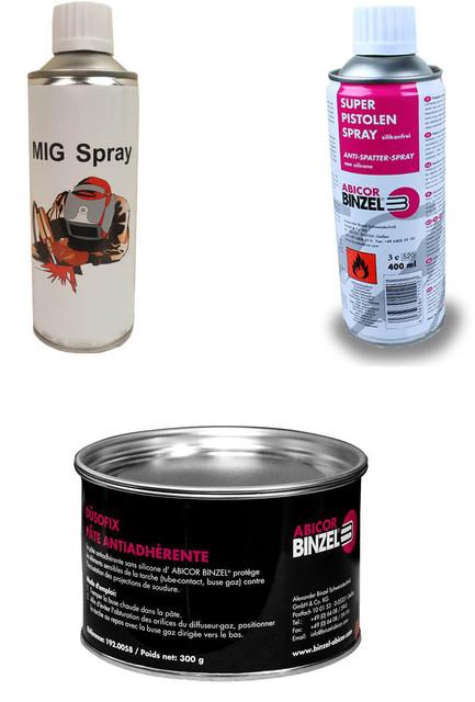 Спрей и паста против налипания брызг для MIG/MAG (сварочная химия)