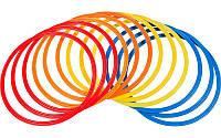 Кольца тренировочные C-4602-60 (пластик, d-60см, в комплекте 12шт.красный, желтый, синий, оранжевый) Код C-4602-60, фото 1
