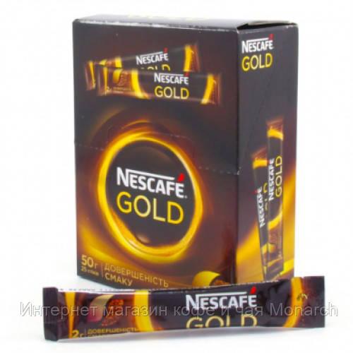 Кофе растворимый Nescafe Gold в стиках (25шт в уп)