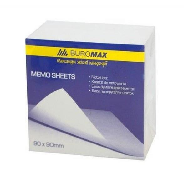 Блок бумаги для заметок 90х90х50 мм, белый, склеенный