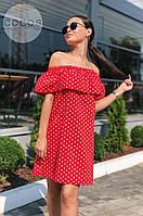 Платье в горошек / штапель / Украина 27-193, фото 1