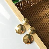 """Серьги в стиле ZARA """"F""""золотистого цвета, фото 1"""