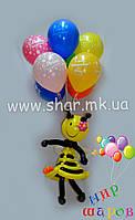 Пчелка на гелиевых шарах