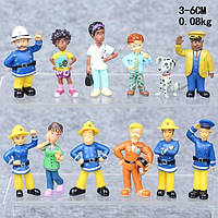 Фигурки героев мультфильма Пожарный Сэм 12 штук, фото 1