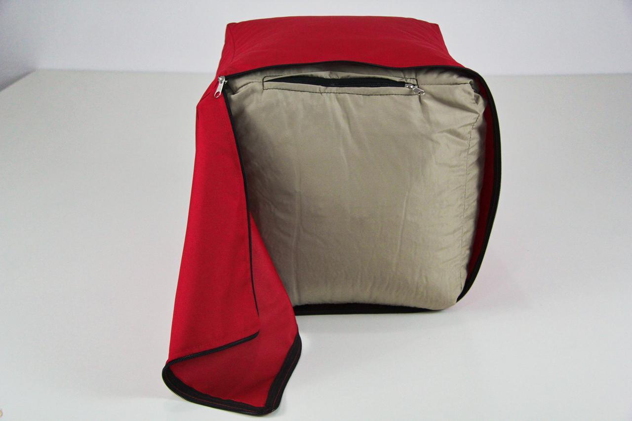 Красный пуф пуфик бескаркасное Кресло мешок груша диван