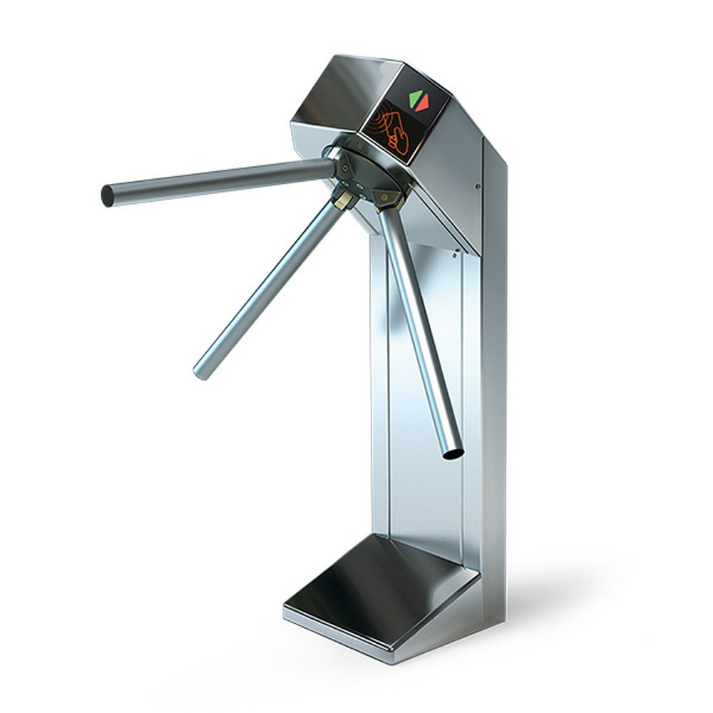 Турникет трипод Lot Expert, полированная сталь, электроприводной, штанга алюминий, Mifare-id + Mifare-id