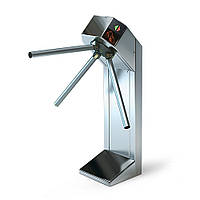 Турникет трипод Lot Expert, полированная сталь, электроприводной, штанга алюминий, Mifare-id + Mifare-id, фото 1