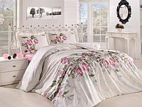 Полуторный комплект постельного белья бязь голд с цветами