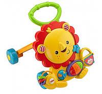 Музыкальные интерактивные ходунки толкатель для детей Fisher Price Львенок Musical Lion Walker