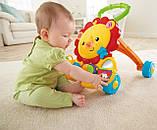 Музыкальные интерактивные ходунки толкатель для детей Fisher Price Львенок Musical Lion Walker, фото 2