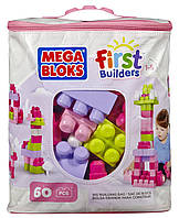 Конструктор Mega Bloks First Builders 60 дет Розовый