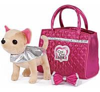 Собачка Чихуахуа Чи Чи Лав в сумке Гламурный стиль Chi Chi Love Plush Denim Fashion 5892280