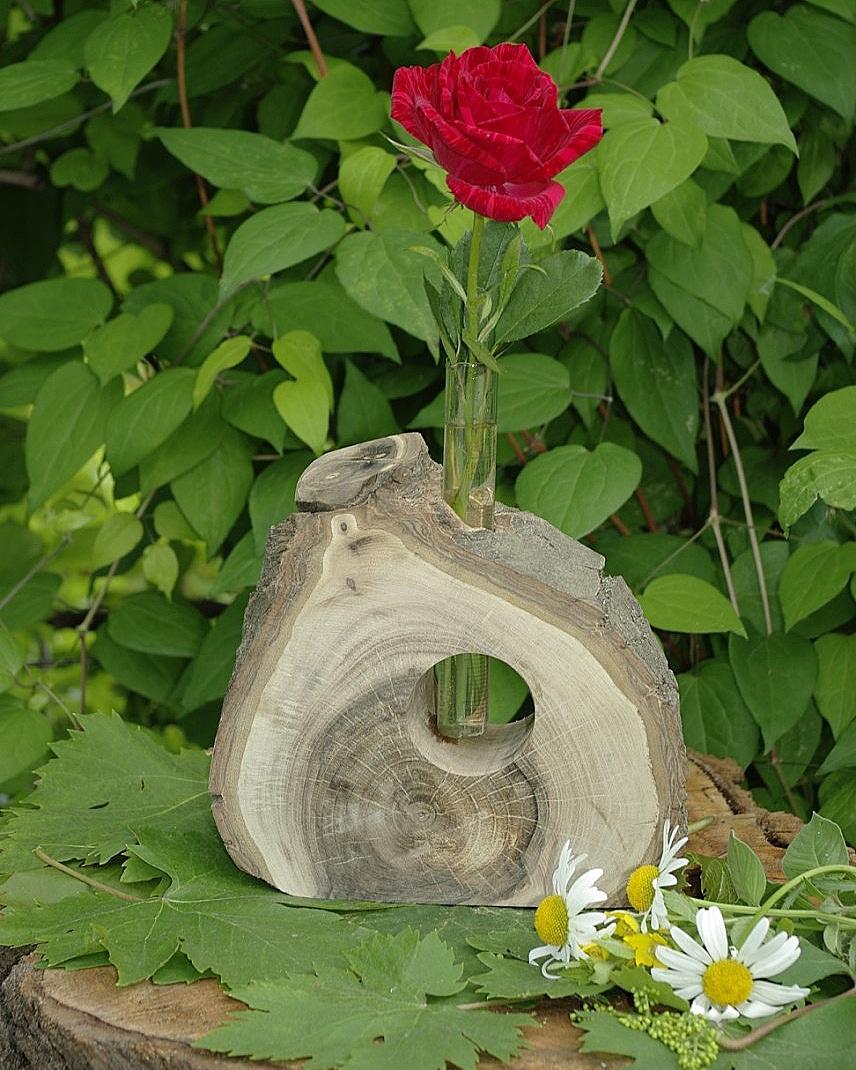 Ваза з дерева, ваза ручної роботи