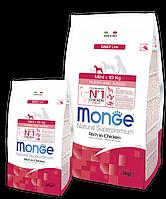 Monge MINI PUPPY JUNIOR CHICKEN & RICE сухой корм для щенков мелких пород КУРИЦА и РИС 3 кг
