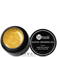 Mtssii Гель-паутинка в баночке 5ml Тон 05 золото эмаль, фото 2