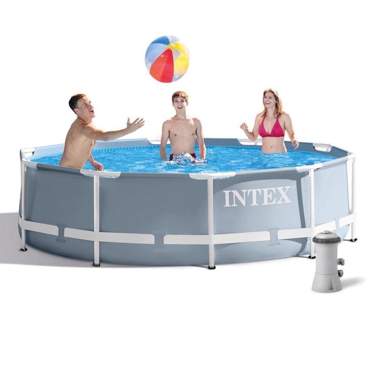 Каркасний басейн Intex 26702-4 з картриджних насосом, тентом і підстилкою