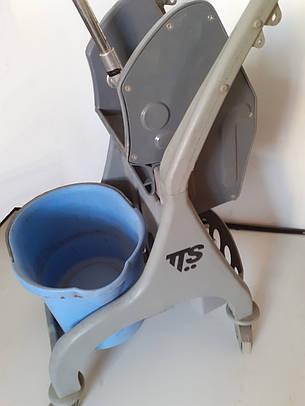 Тележка для уборки со встроенным отжимом Nick TTS 25L Б/У (без ведра), фото 2