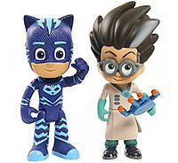 Герои в масках Кетбой и Ромео just play PJ masks Catboy Romeo