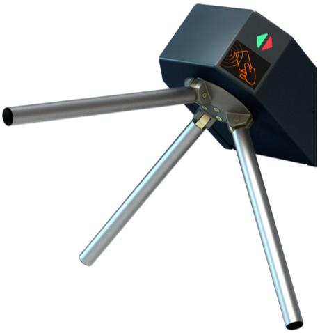 Турникет трипод Lot Eco, окрашенная сталь, электроприводной, штанга алюминий, Proxy + Proxy