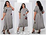 Летнее женское платье коттон Турция для полных женщин Размер-52,54,56, фото 4
