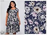 Летнее легкое платье масло  в цветы Размер-50,52,54,56, фото 2