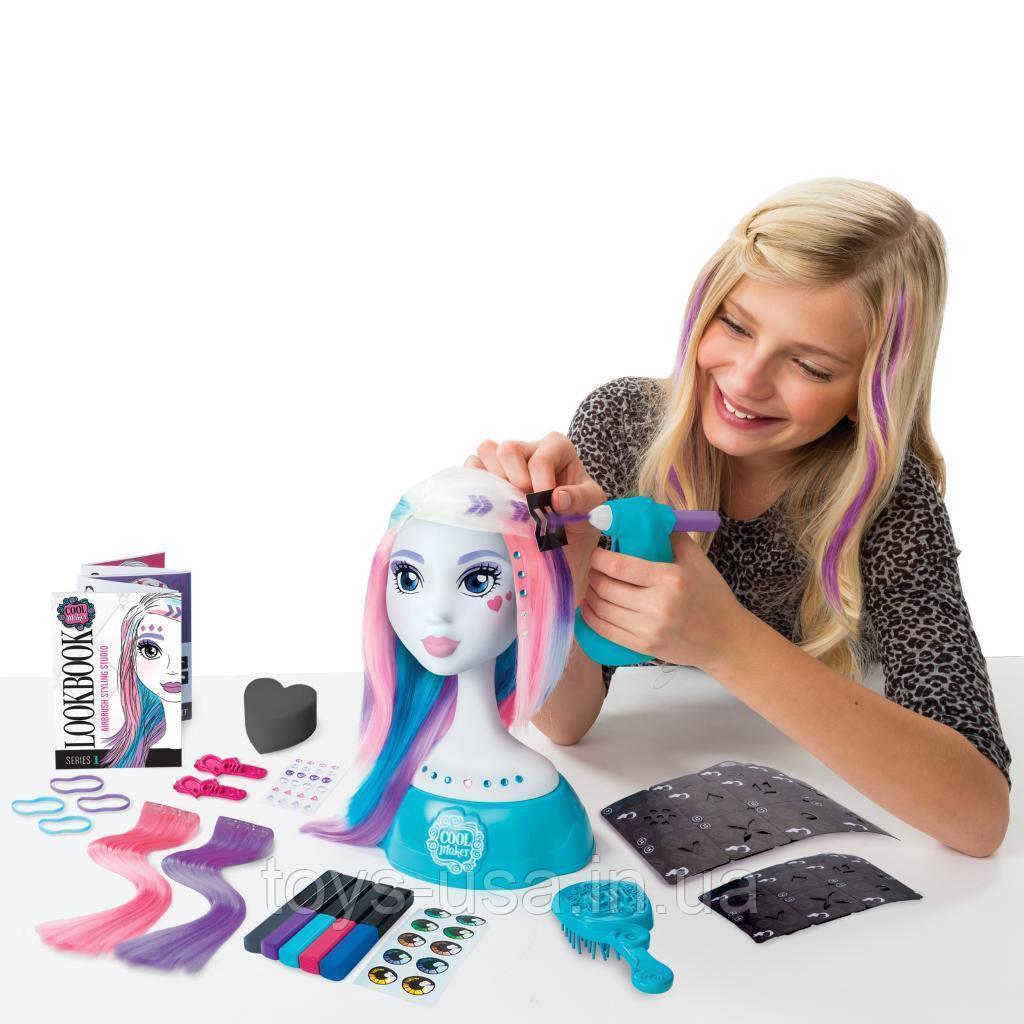 Манекен для причесок и макияжа  Cool Maker Spin Master Airbrush Styling Studio