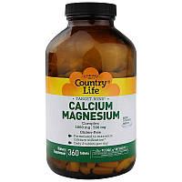 "Кальций и магний Country Life ""Calcium Magnesium Complex"" комплекс 1000 мг и 500 мг (360 таблеток)"