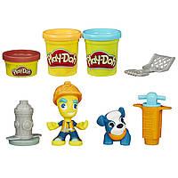 Плей-Дох набір пластиліну Місто дорожній робітник і щеня Play-Doh Town Road Worker and Pup