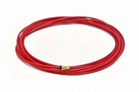 Подаючий канал Ø1.0-1.2 мм, 5.4 м червоний для напівавтоматичного зварювання сталевий і нержавіючої дротом