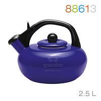Эмалированный чайник со свистком Granchio Sfera Blu Bollitore 88613