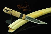"""Нож ручной работы """"Якутский"""" с рукоятью из стабилизированного дуба"""