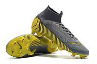 Футбольные бутсы Nike Mercurial Superfly VI 360 Elite FG Thunder Grey/Black/Dark Grey, фото 1