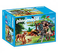 Playmobil 5561 Семья рысей и исследователь