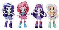 Набор мини кукол Equestria Girls Твайлайт, Пинки Пай, Рарити, Флаттершай Twilight Sparkle, Pinkie Pie, Rarity & Fluttershy