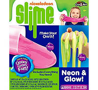Слизь лизун слайм Cra-Z-Art Nickelodeon Slime Neon and Glow Slime Making Kit