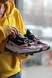 Стильні жіночі кросівки Adidas Falcon Black/Pink, фото 2