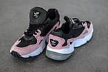 Стильні жіночі кросівки Adidas Falcon Black/Pink, фото 9